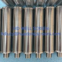 Buy cheap AISI 304/316 20micron slot Wedge shape wire wrapped screen/Johnson V-WIRE screens for backwash oil filter from wholesalers