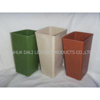 Buy cheap eco friendy plant fiber flower pot from wholesalers