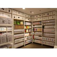 Buy cheap Garment Shop Metal Shelving Units With Wood Shelves 25mm Melamine MDF Board from wholesalers