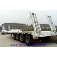 Buy cheap SINOTRUK howo Flatbed Manual Semi Trailer Trucks 4 Axles with Four Double Air Chamber from wholesalers