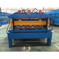 Hydraulic Cutting Steel Roofing Tile Roll Forming Machine With Chain Drive 2-4m/Min