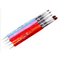 China Handle Nylon Hair Nail Art With Brushes / Nails Art Brush Bule Red on sale