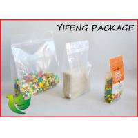 Buy cheap Quad Seal Flat Bottom Pouch With Pocket Zipper For Seed Corn Packaging product