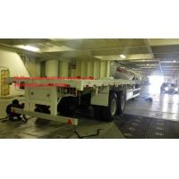 Buy cheap CIMC 2pcs 16T FUWA Axles 20 Feet & 40 Feet Container Semi Trailer Flatbed With Triangle Brand Tire from wholesalers