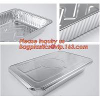 Buy cheap Silver Foil Rectangular Takeout Container with paper lid,Kitchen Use Aluminum Foil Container,700ml food storage containe from wholesalers
