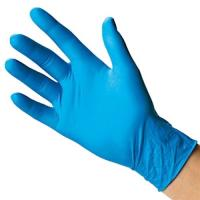 Buy cheap Safety Work Nitrile Disposable Gloves For Industrial Production / Clinic from wholesalers
