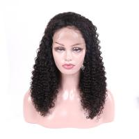 Buy cheap Unprocessed Brazilian Full Lace Wigs Human Hair Jerry Curly No Tangling from wholesalers