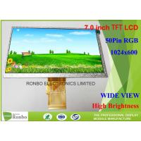 Buy cheap RGB Interface TFT LCD Display Module 1024 * 600 7.0 Thin Thickness 154.08 * 85.92mm from wholesalers