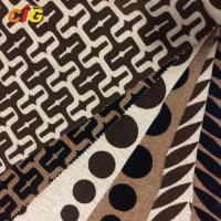 Buy cheap 100% Polyester Multi - Color Flocking Sofa Fabric / Woven Upholstery Fabric product