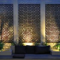 Buy cheap Corten steel decorative flower curtain wall art metal screen for garden from wholesalers