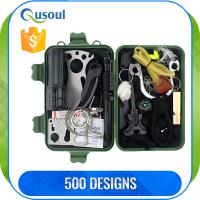 Buy cheap 12 in 1 functions Outdoor Survival gear with fire starter, self-rescue tools  for Traveling / Hiking / Camping from wholesalers
