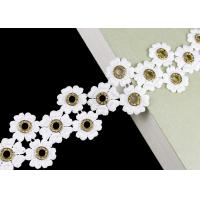 Buy cheap Glitter Inlay Crystal Diamond Nickle Eyelet Lace Trim Embroidered Customized product