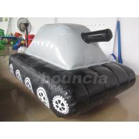 Buy cheap 0.6mm / 0.9mm PVC Tarpaulin Fabric  Inflatable Military Tank for Paintball Sport from wholesalers