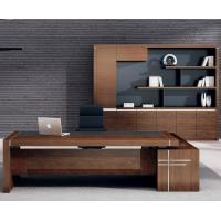 Buy cheap 2018 hot sale luxury executive office desk wooden office desk on sale 2400*1200*750mm oak color from wholesalers