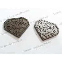 Buy cheap garment accessory metal label and metal logo custom clothing label maker from wholesalers