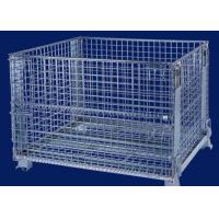Buy cheap Foldable security Wire Mesh Cages for warehouse storage3 ~ 4 levels stacking from wholesalers