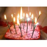 Buy cheap Dark Green Sparkling Birthday Cake Candles With Shimmer Sizzle , Slim 24pcs Candles from wholesalers