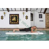 Buy cheap Grey Top Portable Inflatable Yoga Mat On Water 220x85x15cm Eco Friendly from wholesalers