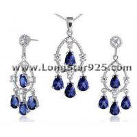 Buy cheap 925 silver CZ jewelry sets, party jewelry, jewelry sets Dubai from wholesalers