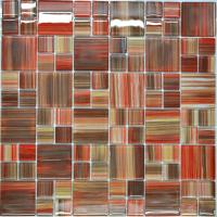Buy cheap Puzzal pattern crystal glass kitchen mosaic tiles from wholesalers