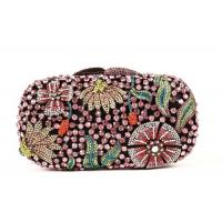 Buy cheap Round Shape Diamond Evening Bag , Famale Rainbow Evening Party Purse from wholesalers