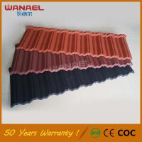 Buy cheap Corrugated Roofing Sheet Wanael 50 Years Warranty Traditional Tejas Fotovoltaicas, Chinese Steel Stone Coated Roof Tiles from wholesalers