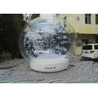 Buy cheap 3 - 6m advertising Inflatable Snow Globe Bubble Decorations / Snow Bubble Tent from wholesalers