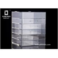 Buy cheap Durable 5 Drawers Acrylic Cosmetic Makeup Organizer 12''x12''x16'' Makeup Box from wholesalers