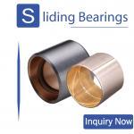 Buy cheap CuPb24Sn4 Bimetallic Bearings Alloy Tin Coating Metric Flanged Oilite Bushes SAE 49 from wholesalers