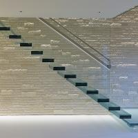 Buy cheap Glass Staircase / Build Floating Stair/ Wooden stair product