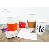 Buy cheap Brown Kraft / White Reusable Coffee Cup Sleeves , Cup Sleeves For Hot Drinks from wholesalers