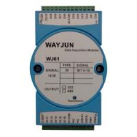 Buy cheap WAYJUN WJ61 series 16-ch DI Isolated Digital Signal to RS485/232 Module,Slim-line plastic housing with integral 35mm DIN from wholesalers