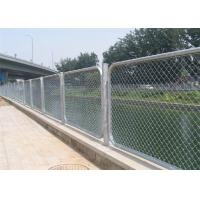 Buy cheap Privacy Vinyl Coated Chain Wire Fencing Panels , 3mm  Diameter Galfan Wire Hot Dip Galvanized Fence from wholesalers