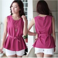 Buy cheap Chiffon Sleeveless O-Neck Womens Casual Clothing Outfits For Fashion Ladies from wholesalers