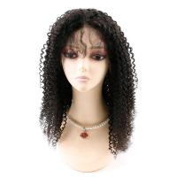 Buy cheap Kinky Curly Front Lace Wigs , Lace Front Full Wigs Human Hair 8A Grade from wholesalers