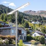 Buy cheap Mono solar panel PMMA lens aluminum body LiFePO4 battery  LED solar street lights from wholesalers