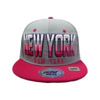 Buy cheap Gray Pink 3D Embroidery Hip Hop Baseball Cap Flat Peak 6 Panel Hat from wholesalers
