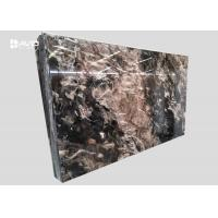 Buy cheap Xiamen service fantasy black marble glossy polished 18cm beautiful veins from wholesalers