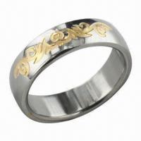 Buy cheap Ring, Can Laser Your Logo for Free, 24K Gold Plating product