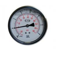 Buy cheap 50mm White Aluminium Dials Gaseous Liquid-Filled Pressure Gauge With Glass Window from wholesalers