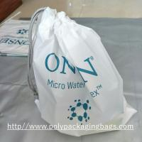 Buy cheap White Drawstring Plastic Bags for Electronic Product / Scrubbing String Bag from wholesalers