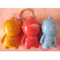 Buy cheap Eco-friendly ABS plastic lighting/sounding voodoo doll keychain from wholesalers