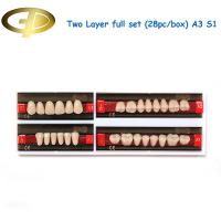 Buy cheap Dental Synthetic Resin Teeth Two-Layer A3 Shade Full Mouth Set S1 Moulds from wholesalers