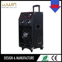 Buy cheap 2015 OEM new style active trolley speaker & 55W RMS power portable speaker box wheels from wholesalers