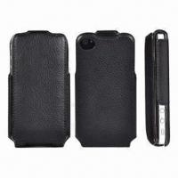 Buy cheap Thermoforming Leather Case for iPhone 4/4S, with Camera Eyes on the Back Cover from wholesalers