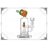 Buy cheap Yellow Pineapple Waterpipe 7 inches Mini Glass Bubbler Bong With Showerhead Perc from wholesalers