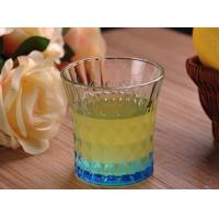 Buy cheap Colored Embossed Whiskey Glass Cups , Recycled Glasses Tumblers for Water product