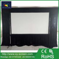 Buy cheap XYSCREEN 250 inch fast folding portable projection screen with drapes from wholesalers