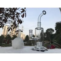 Head Perc Toro Style Glass Smoking Bubbler , Hookah Shisha Glass Bubbler Water Pipes