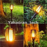 Buy cheap Flickering Lamp Dust to Dawn Auto decoration lamp solar garden torch lights from wholesalers
